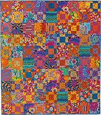 Dark 9-Patch Quilt Fabric Pack