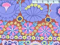 Blue Embroidered Flower Border