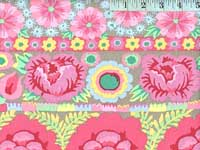 Pink Embroidered Flower Border