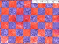 Red Chess Batik