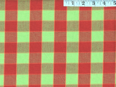 Red Checkerboard Ikat
