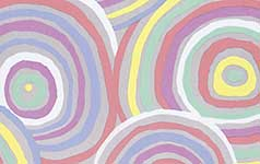 Pastel Circles Backing Fabric