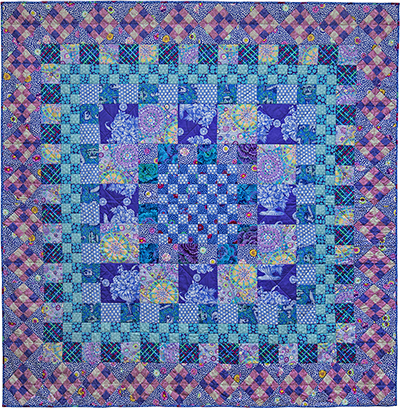 Blue Square Dance Quilt Fabric Pack