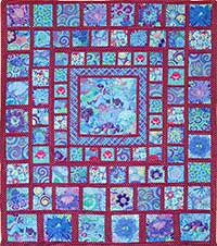 Blue Squares Quilt Fabric Pack