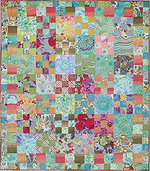 Creative Rosy Quilt Top