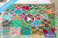 Making the Rosy Quilt Top