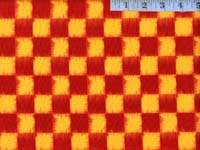Red Faux Ikat Checker