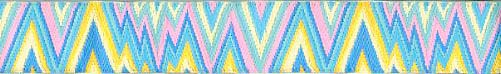 Aqua Flame Stitch Ribbon (Narrow)