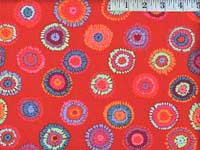 Red Plink Laminated Fabric