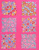 Pink Field Bouquet Panel