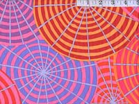 Fuchsia Parasols Laminated Fabric