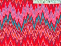 Red Flame Stripe Home Dec Fabric