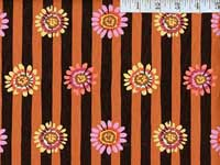 Brown Regency Daisys Home Dec. Fabric