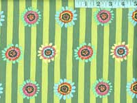 Green Regency Daisys Home Dec. Fabric