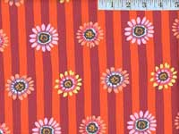 Red Regency Daisys Home Dec. Fabric