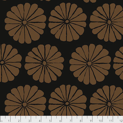 Damask Flower Brown