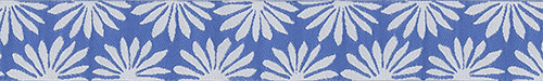 Blue/White Gerbera Ribbon