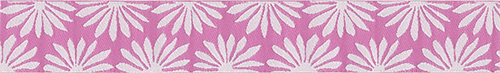 Pink/White Gerbera Ribbon