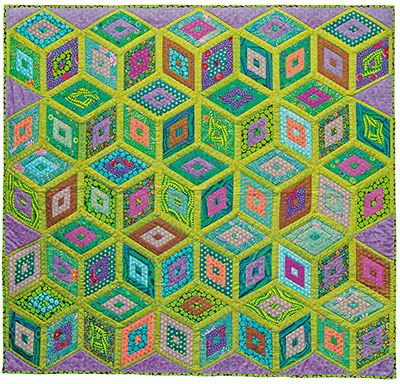 Green Boxes Quilt Fabric Pack