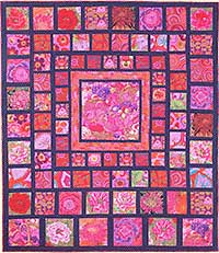 Red Squares Quilt Fabric Pack