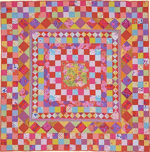 Rustic Checkerboard Medallion Quilt Fabric Pack