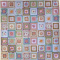 Lacy Log Cabin Quilt Fabric Pack