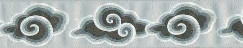 Grey Clouds Ribbon (Wide)