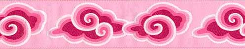 Pink Clouds Ribbon (Wide)