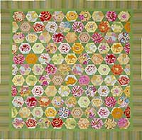 Green Mediterranean Hexagons Quilt Fabric Pack