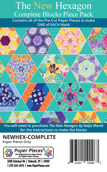 New Hexagon Complete Block Paper Piece Pack