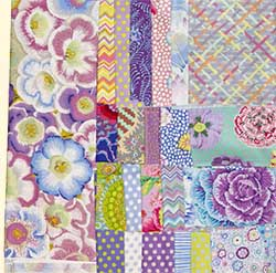 Glorious Hexagons Starter Fabric Pack  Frost Gloxinias
