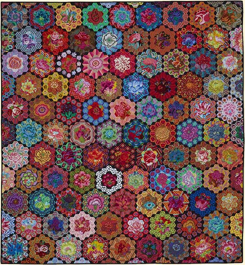 Hexagon Rings Fabric Starter Pack for Kim`s Glorious Garden Quilt
