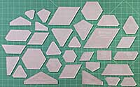 Paper Pieces Acrylic New Hexagons Template Set