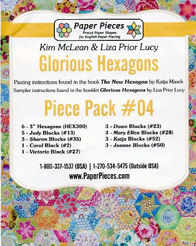Glorious Hexagons Paper Pieces Pack #04