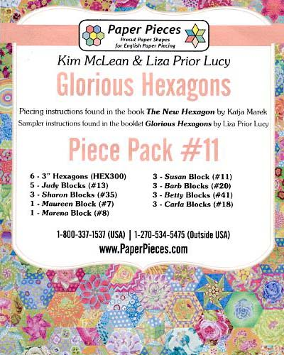 Glorious Hexagons Paper Pieces Pack #11