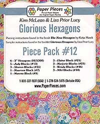 Glorious Hexagons Paper Pieces Pack #12