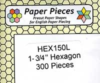 1 3/4 Inch Hexagon Paper Pieces
