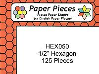 Half Inch Paper Hexagons