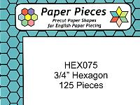 Three Quarter Inch Paper Hexagons