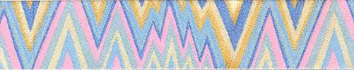 Aqua Flame Stitch Ribbon (Wide)