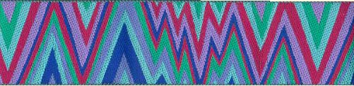Magenta Flame Stitch Ribbon (Wide)