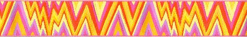 Yellow Flame Stich Ribbon (Narrow)
