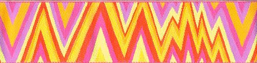 Yellow Flame Stich Ribbon (Wide)