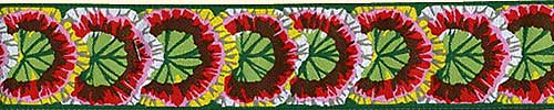 Green Geraniums Ribbon (Wide)