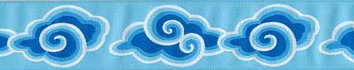 Blue Clouds Ribbon (Wide)