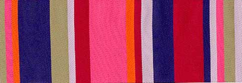 Pink & Blue Roman Stripe Ribbon (65 mm)