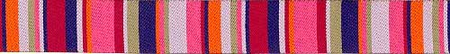 Pink & Blue Roman Stripe Ribbon (narrow)