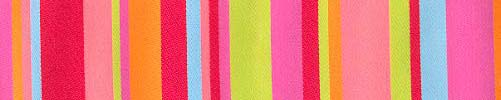 Lime & Coral Roman Stripes Ribbon (wide)