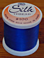 Blue Silk Appliqu� Thread (#209)
