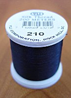 Midnight Blue Silk Appliqu� Thread (#210)